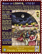 St. Augustine Mixed Media Posters - Night of Lights Poster by Warren Clark