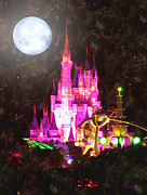 Disneyworld Prints - Night Of Magic Print by Kenneth Krolikowski