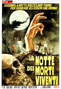 1960s Poster Art Framed Prints - Night Of The Living Dead, Aka La Notte Framed Print by Everett