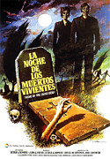 1960s Poster Art Posters - Night Of The Living Dead, Spanish Poster by Everett
