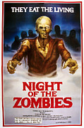 1980 Posters - Night Of The Zombies, Aka Virus, Aka Poster by Everett