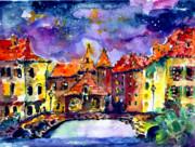 Ginette Fine Art LLC Ginette Callaway - Night Over Annecy