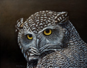 Great Painting Originals - Night Owl by Sandy Moser