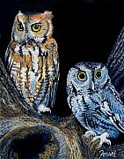 Darkness Framed Prints - Night Owls Framed Print by Ferrel Cordle