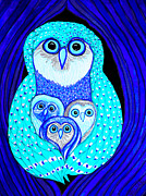 Owls Mixed Media - Night Owls by Nick Gustafson