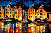 Featured Painting Metal Prints - Night Resting Original Oil Painting  Metal Print by Leonid Afremov