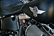 Harley Davidson Rally Prints - Night Rider-color Print by Lucky LaRue