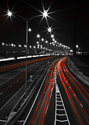 Black And White Photos Originals - Night Road by Evgeny Subbotsky