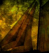 Sail-ship Posters - Night Sailing Poster by Susanne Van Hulst