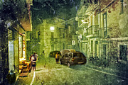 Fruit Stand Prints - Night Scene in Sicily 2 Print by Madeline Ellis