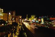 Las Vegas Prints - Night Scene Of The Strip In Las Vegas Print by Stacy Gold