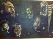 Martin Luther King Jr Paintings - Night Shift In Memory by Donald Dunham