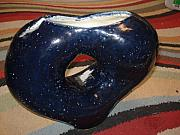 Round Ceramics - Night Sky Coil Pot by  Rosanna Hardin