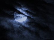 Full Moon Prints - Night Sky Print by Ernie Echols