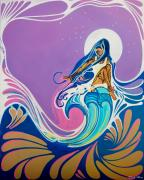 Surfer Girl Paintings - Night Sky Sway by Danielle  Marvin