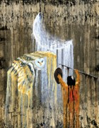 Native American Paintings - Night Spirit by Patrick Trotter
