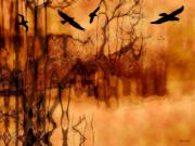 Spooky  Digital Art - Night Stalkers by Linda Sannuti