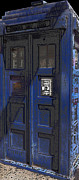 Dr. Who Metal Prints - Night Tardis Metal Print by Rhonda Chase