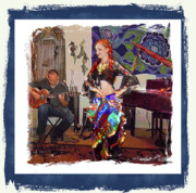 Guitar Player Mixed Media Prints - Night to Remember Print by Donna Aloia