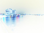 Destin Art - Night to White Over The Water by James Granberry