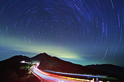 Light Trail Prints - Night Traffic Trails Print by Samyaoo