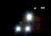 Express Photos - Night Train - Union Pacific Train Engine by Steven Milner