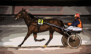 Racing Number Framed Prints - Night Trotter Framed Print by Ari Salmela