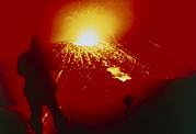 Volcano Prints - Night View Of Eruption Of Alaid Volcano, Cis Print by Ria Novosti