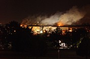 Fires Photos - Night View Of The Pentagon by Everett