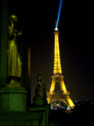 Searchlight Posters - Night Vision - Eiffel Beauty Poster by Al Bourassa