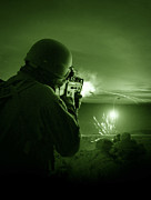 Automatic Weapons Framed Prints - Night Vision View Of A Special Framed Print by Tom Weber