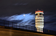 Air Traffic Control Tower Posters - Night Watch Poster by JC Findley
