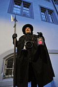 Swiss Horn Metal Prints - Night watchman Metal Print by Matthias Hauser