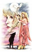 Stevie Nicks Framed Prints - Nightbird Framed Print by Johanna Pieterman