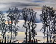 Nightfall Approaching Print by Marilyn  McNish