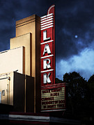 Theaters Posters - Nightfall At The Lark - Larkspur California - 5D18482 Poster by Wingsdomain Art and Photography