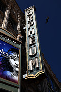 Old Theater Framed Prints - Nightfall at The Orpheum - San Francisco California - 5D17991 Framed Print by Wingsdomain Art and Photography
