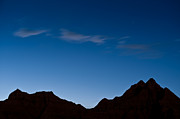 Silhouette Photos - Nightfall Badlands South Dakota by Steve Gadomski