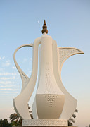 Coffeepot Posters - Nightfall in Doha Poster by Paul Cowan
