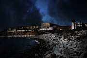 Prisons Prints - Nightfall Over Hard Time - San Quentin California State Prison - 5D18454 Print by Wingsdomain Art and Photography