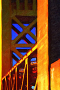 Nightfall Over Sacramento In Abstract . Vision 2 Print by Wingsdomain Art and Photography