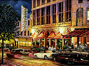 Bar Scene Paintings - Nightlife by Mike Rabe
