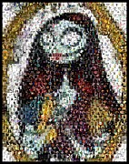 Mosaic Mixed Media - Nightmare Before Christmas Sally Mosaic by Paul Van Scott