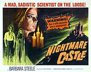 1960s Poster Art Posters - Nightmare Castle, Top Left Barbara Poster by Everett