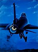 Lockheed Aircraft Paintings - Nightmoves by Peter Ring