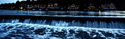 Rowing Crew Posters - Nighttime at Boathouse Row Poster by Bill Cannon