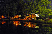 Kay Lovingood Art - Nighttime in the Campground by Kay Lovingood