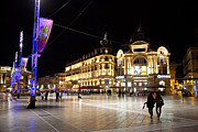 Montpellier Prints - Nighttime In The Place De La Comedie Print by Taylor S. Kennedy