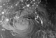 Natural Disasters Art - Nighttime View Of Tropical Storm Isaac by Stocktrek Images