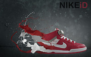 Nike Shoes Prints - Nike ID Print by Tom  Layland